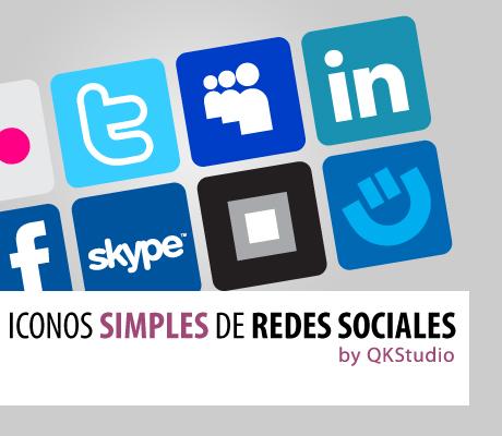 Iconos Simples de Redes Sociales by QKStudio