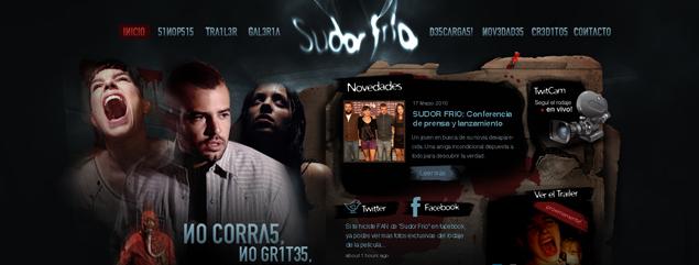 Ya está on line el sitio web del film Sudor Frío!