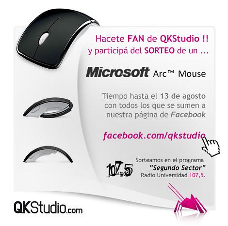 Hacete fan y gana un Microsoft Arc Mouse