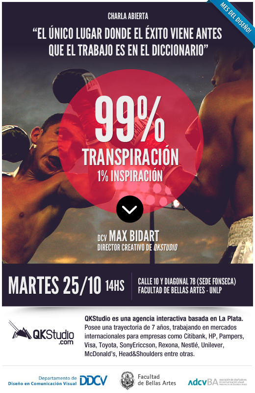 99% Transpiración, el tema propuesto por Max Bidart de QKStudio
