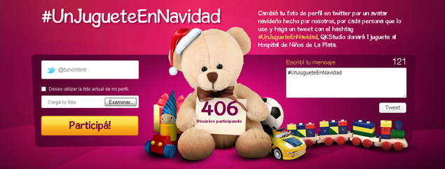 # UnJugueteEnNavidad, solidarity campaign on Twitter to Children's Hospital of La Plata