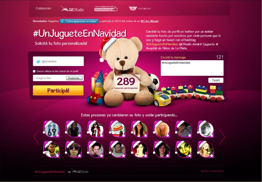 Sitio Web #UnJugueteEnNavidad por QKStudio