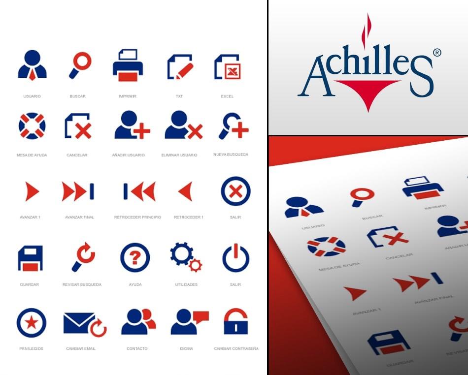 Achilles (Chile) sistema de iconos para Regic QKStudio