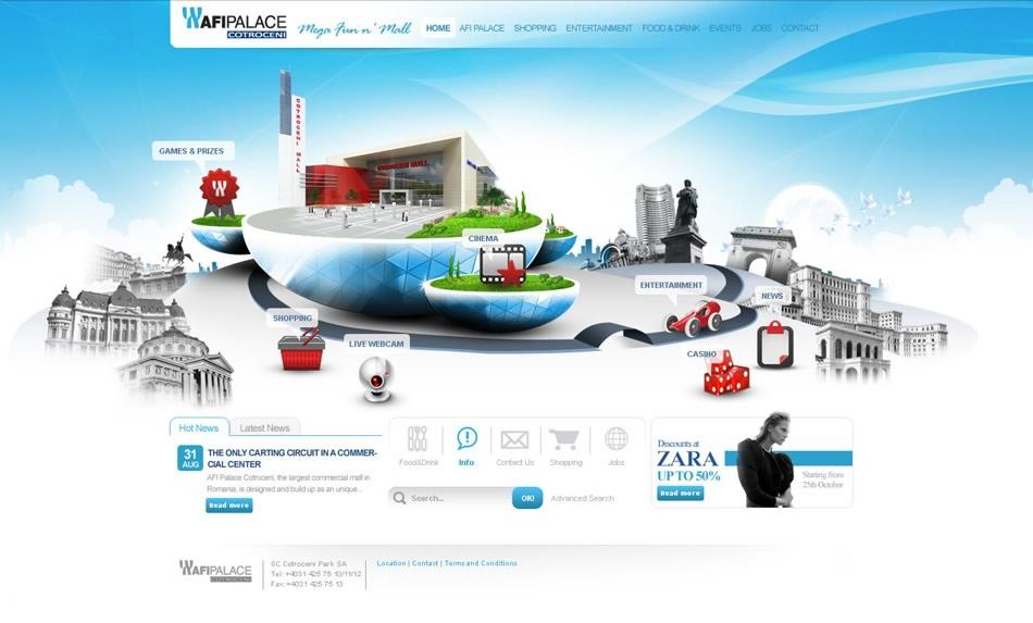 Afi Palace Cotroceni WebSite