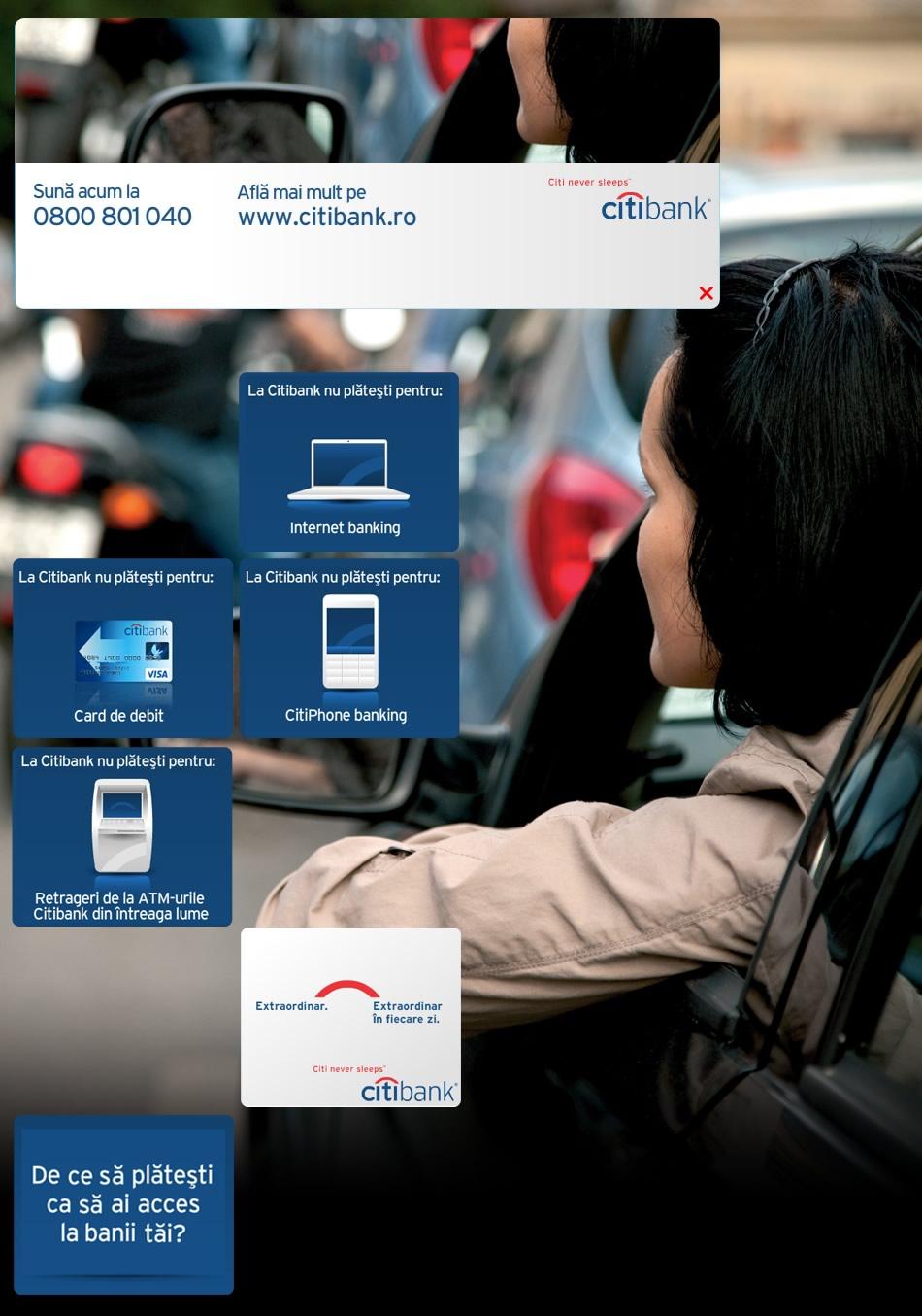 Citibank campaña de banners QKStudio