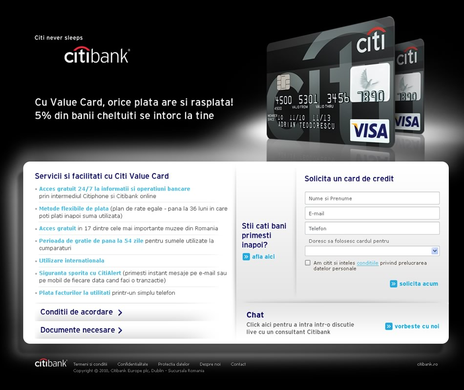Citibank MicroSitio QKStudio
