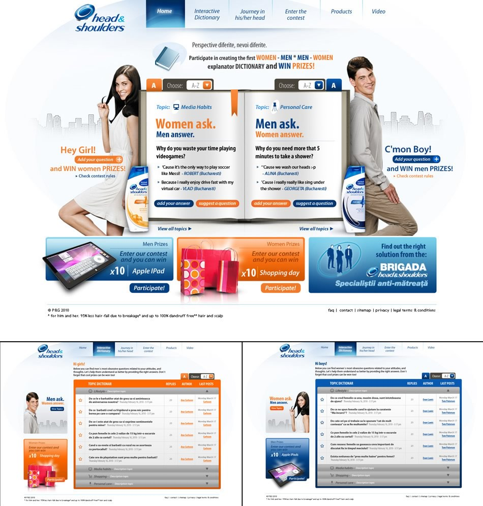 Head&Shoulders Women-Men Ask WebSite QKStudio