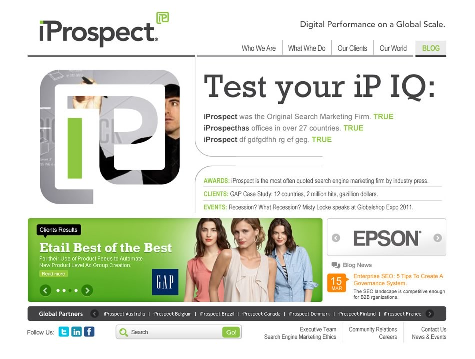 iProspect WebSite