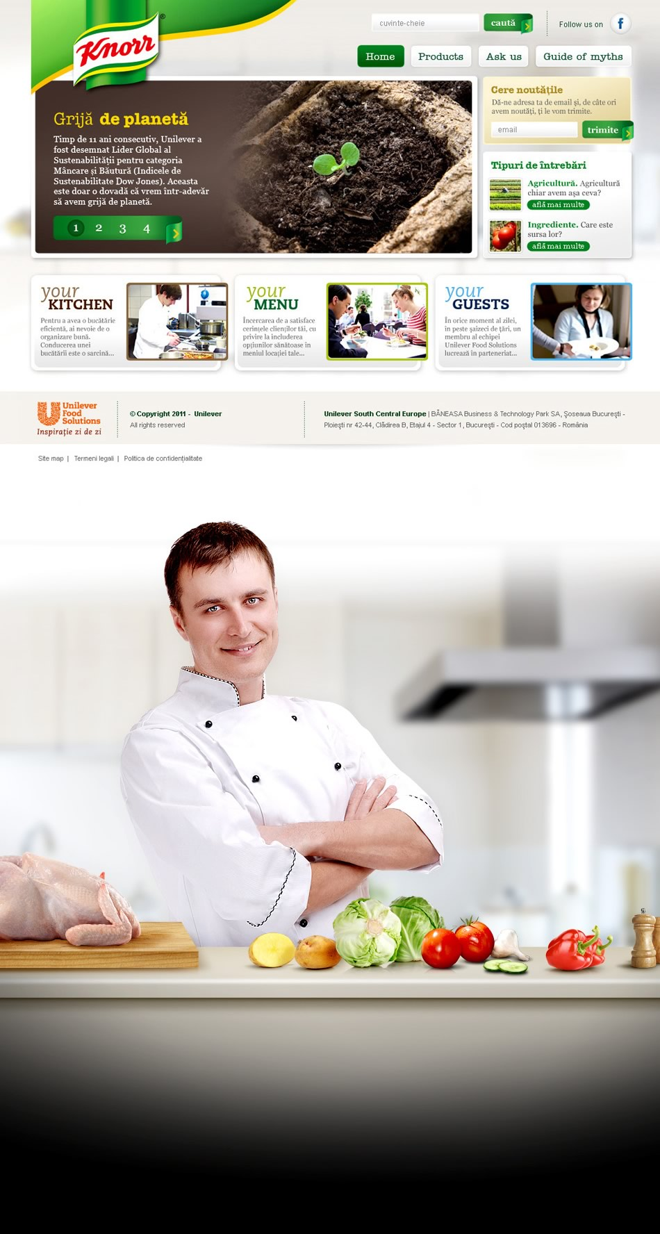 "Knorr ""Recetas"" WebSite QKStudio"