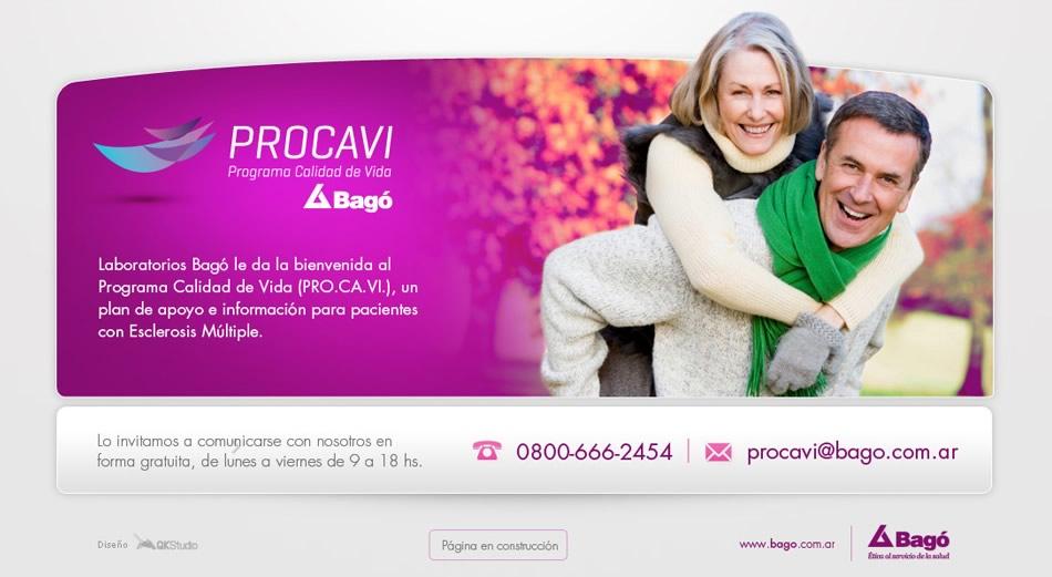 Laboratorios Bagó Procavi Landing Page QKStudio