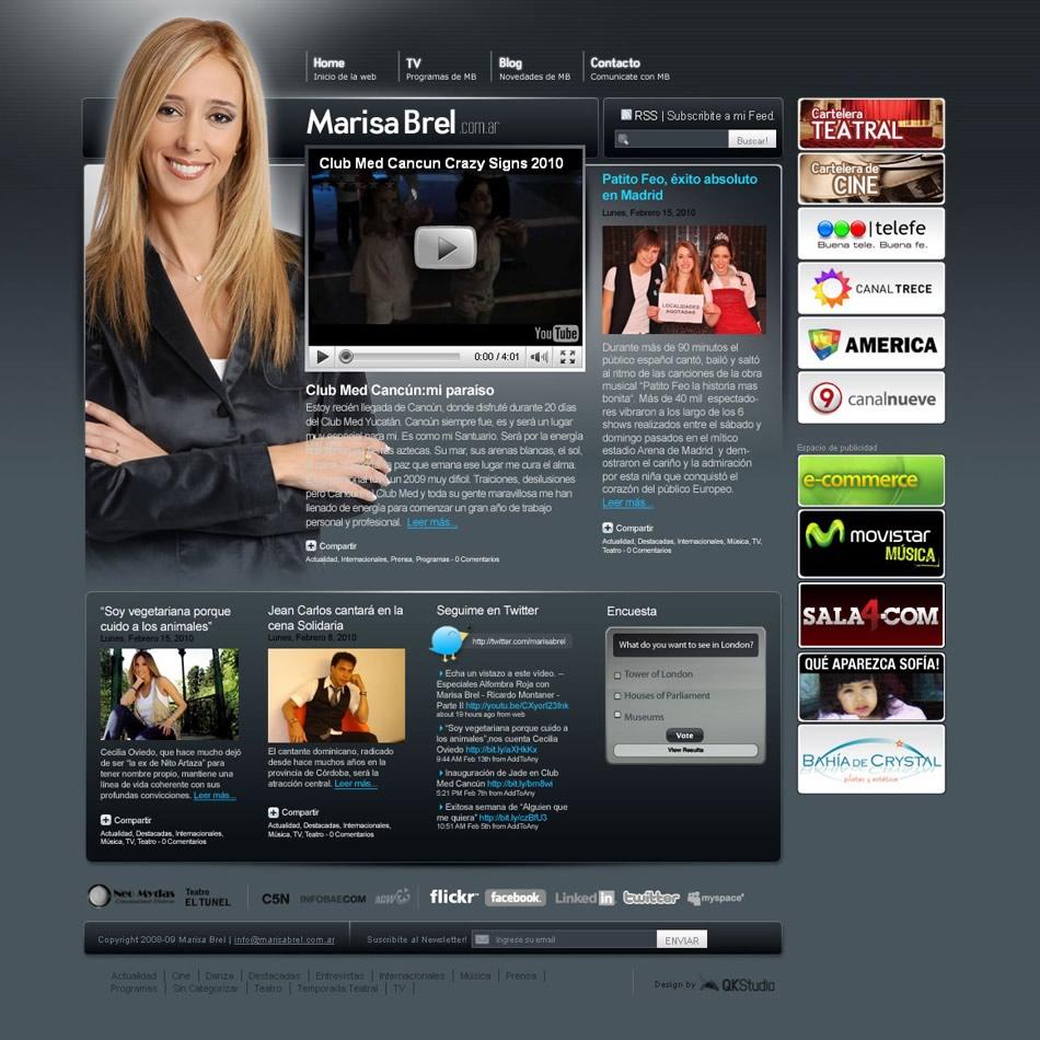Marisa Brel Sitio web personal