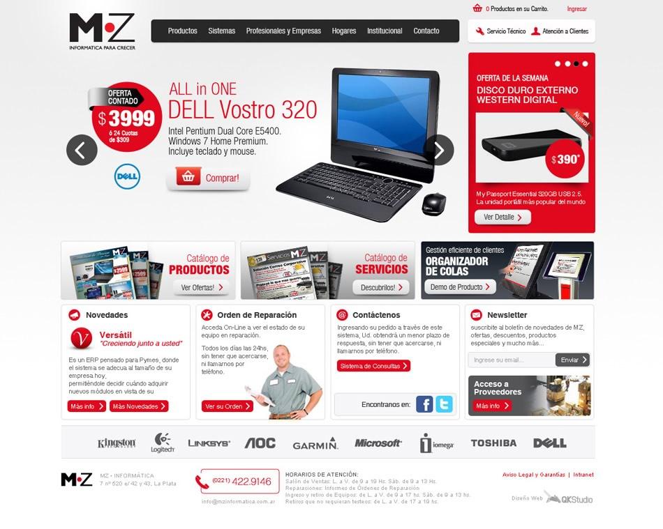 MZ Informatica WebSite con eCommerce