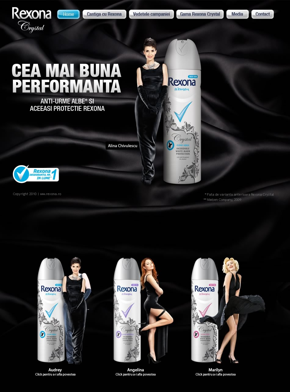 Rexona Crystal WebSite Campaign QKStudio