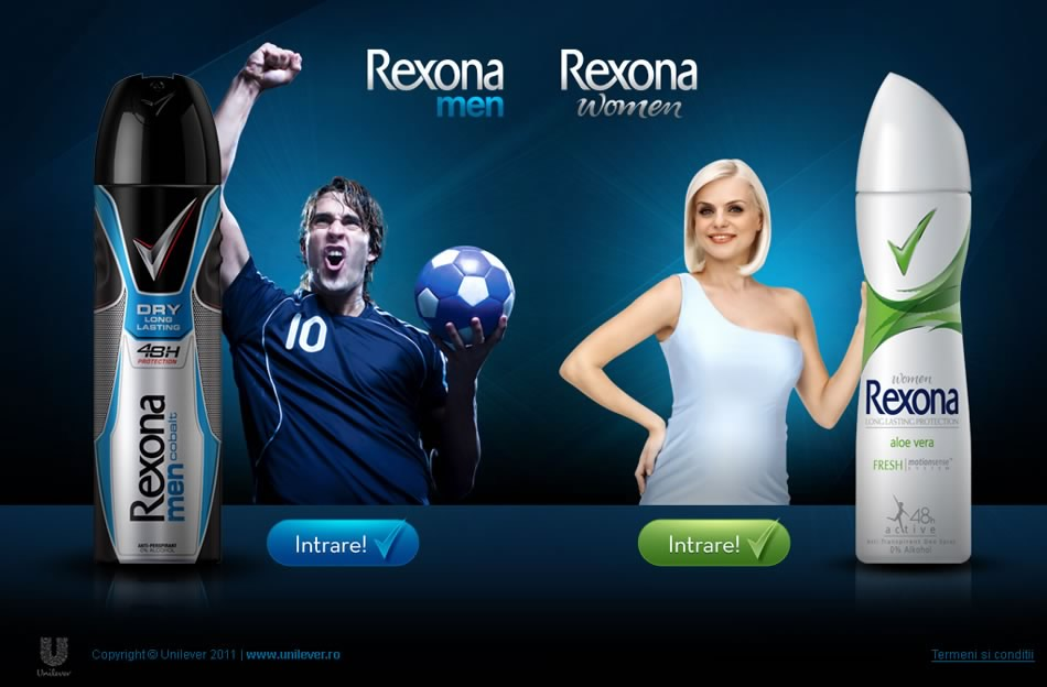 Rexona Man-Women WebSite Campaing QKStudio