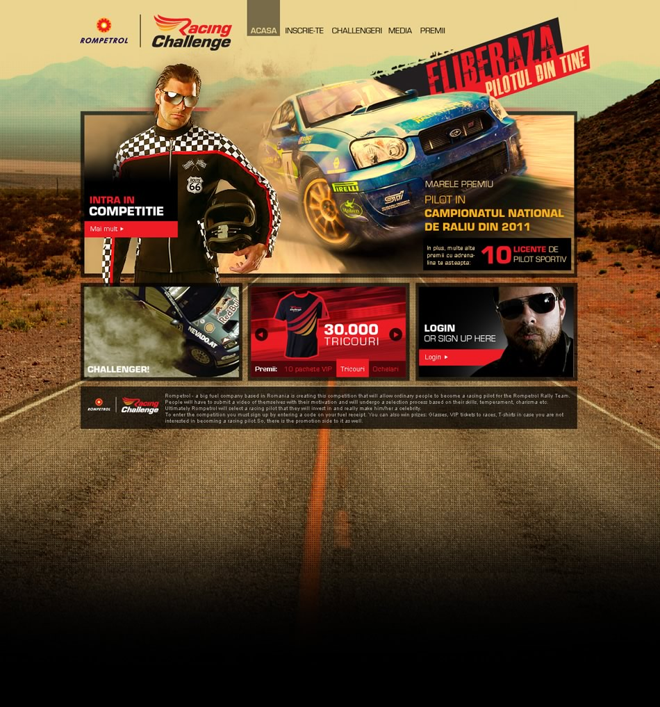 "Rompetrol WebSite ""Racing Challenge"""