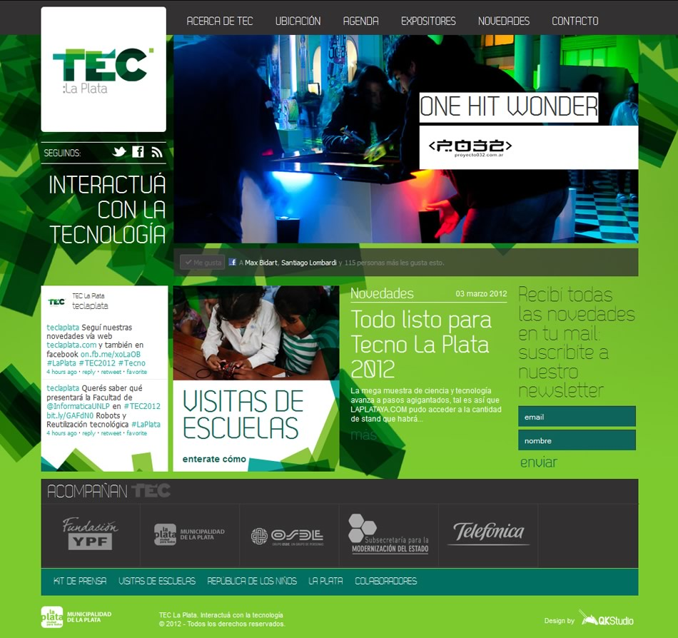 TEC La Plata WebSite QKStudio