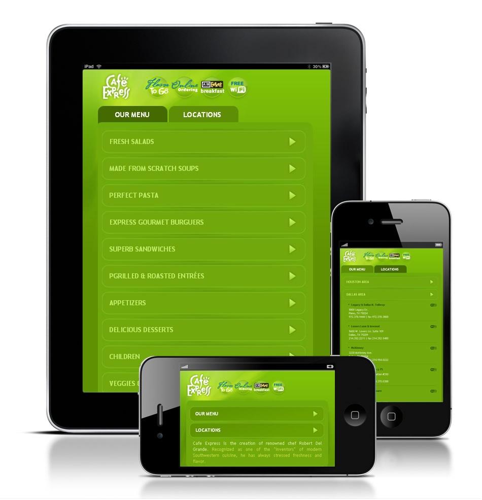 Café Express Iphone Site