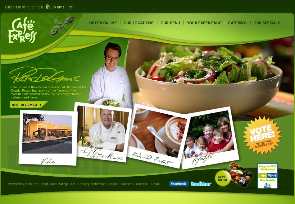 Café Express WebSite
