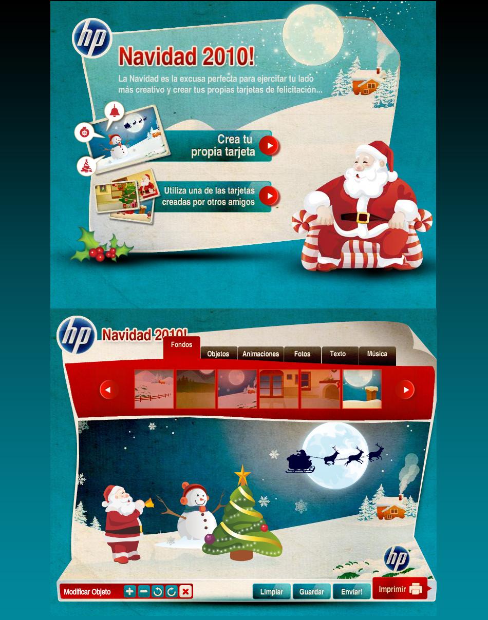"""HP """"Navidad"""" Facebook App + Flash"""
