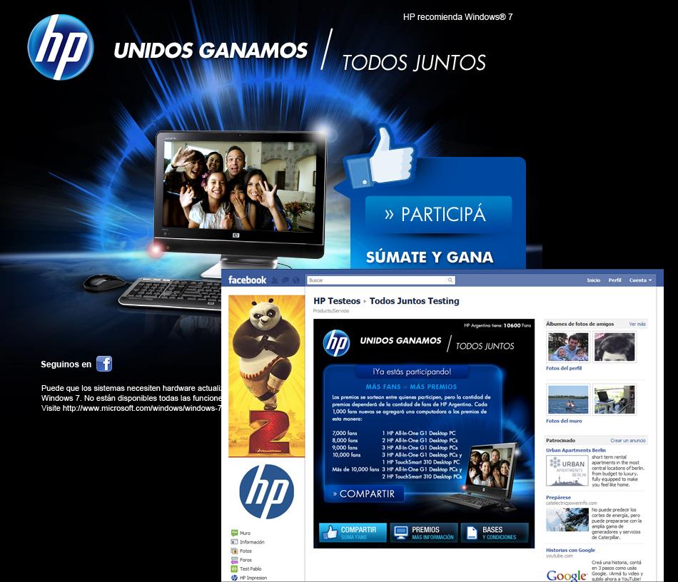 """HP """"Todos Juntos"""" Facebook App"""