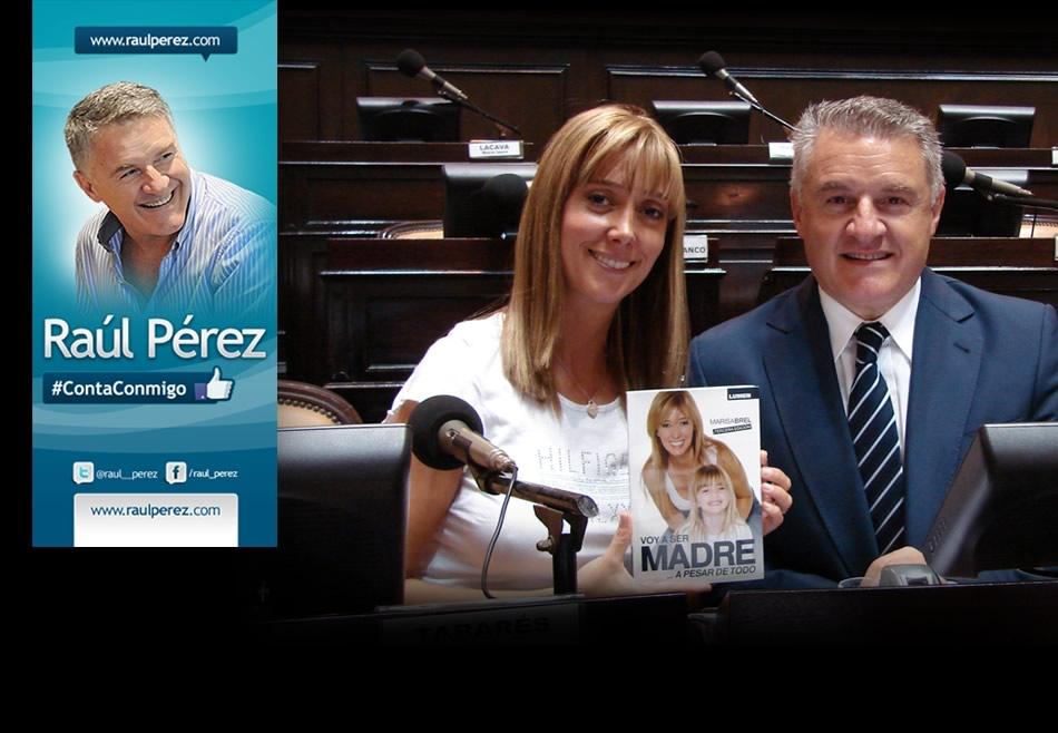 Raúl Pérez junto a Marisa Brel, Proyecto Ley de Fertilización Asistida