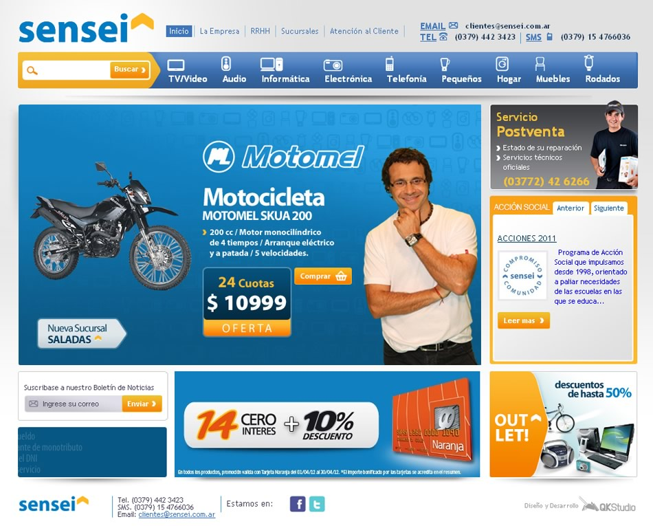 Sensei Hogar WebSite y eCommerce