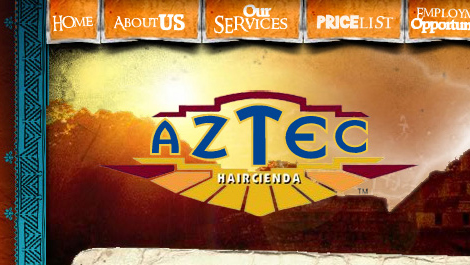 AZTEC Haircienda | Diseño y desarrollo web