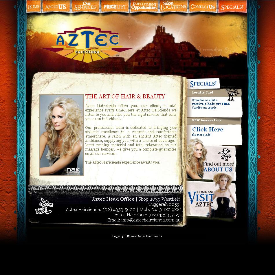 Aztec Haircienda Web QKStudiov