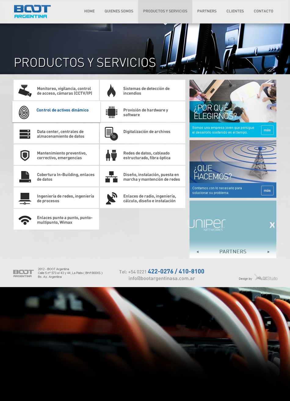 Boot Argentina Website Interior