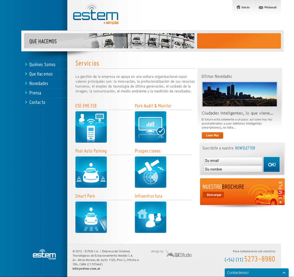 Estem + simple Web Interior QKStudio