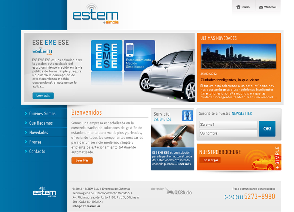 Estem + simple Web QKStudio