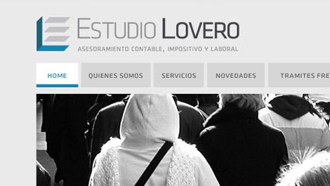 Estudio Lovero | Diseño de imagen y desarrollo web