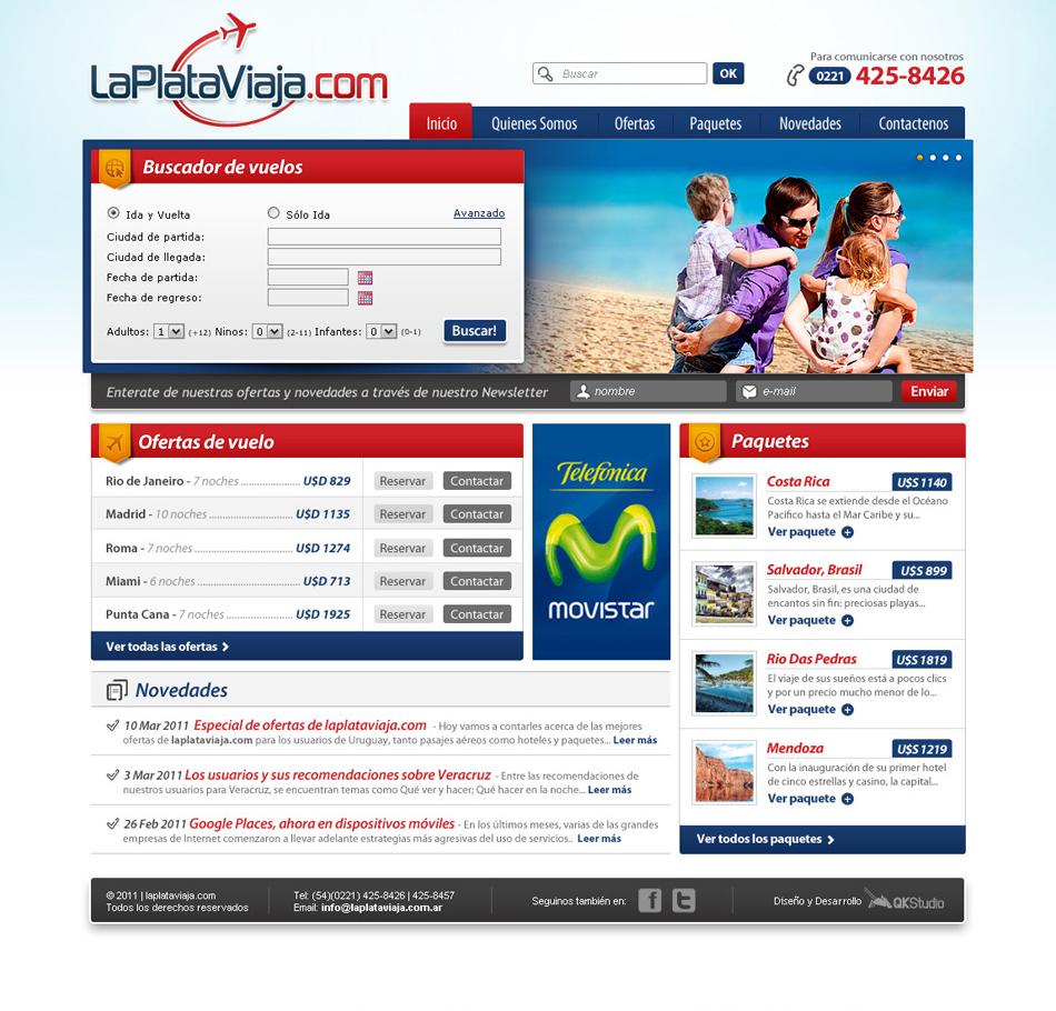 La Plata Viaja Web QKStudio