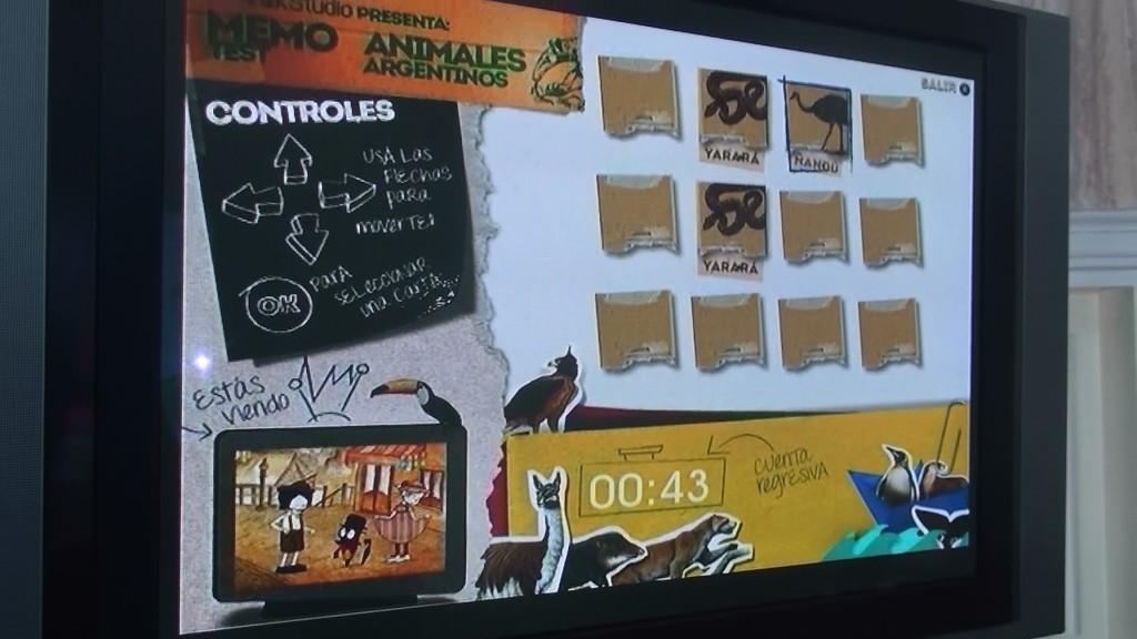 Memotest en TV Digital de QKStudio