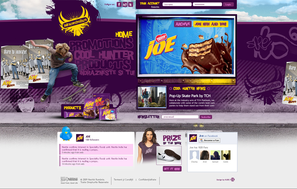 Nestle Web QKStudio