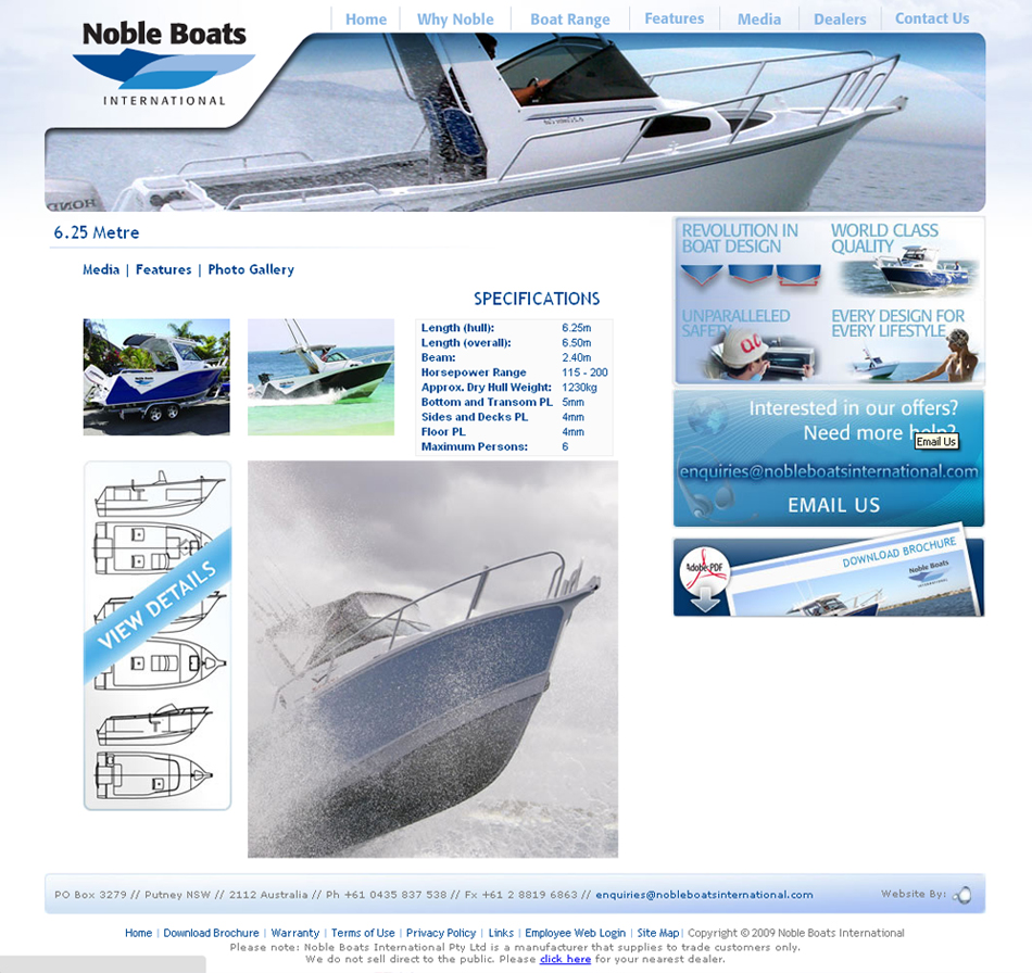 Noble Boats Web QKStudio