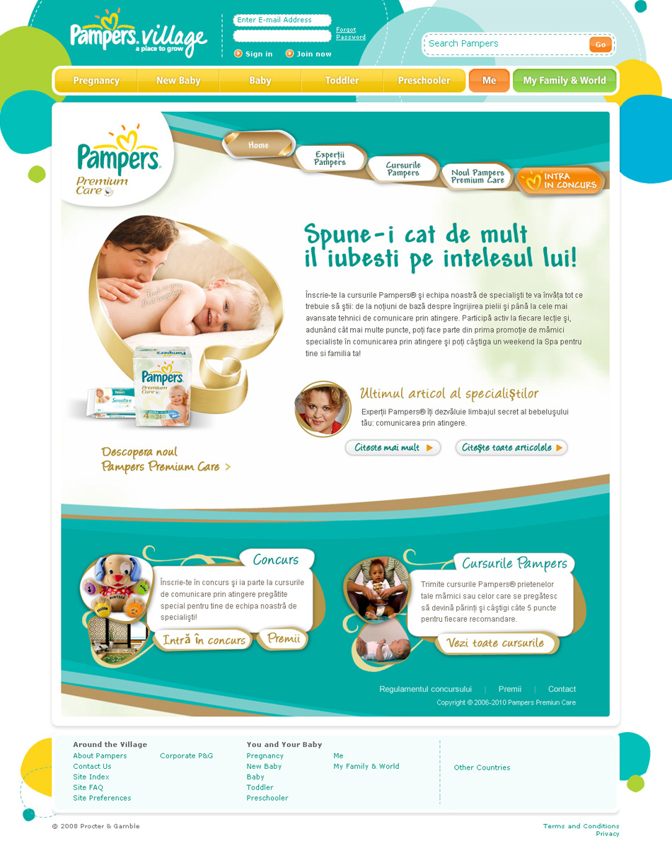 Portal Pampers Village Premium Care