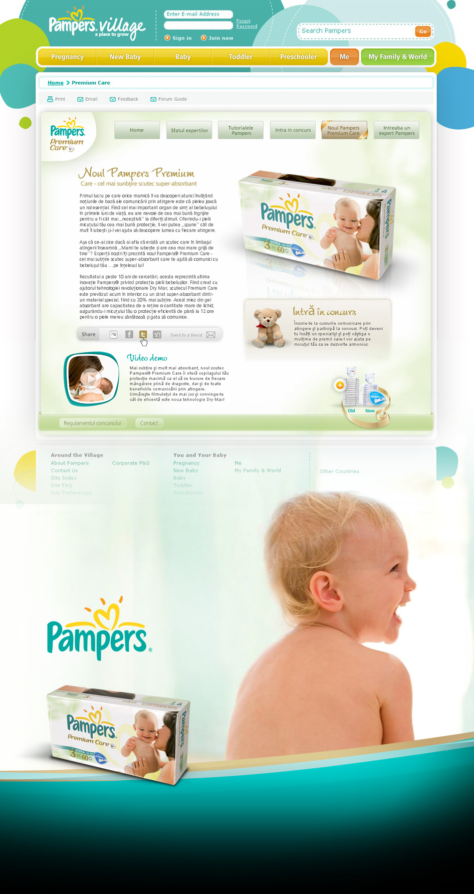 Pampers portal Village Premium Care