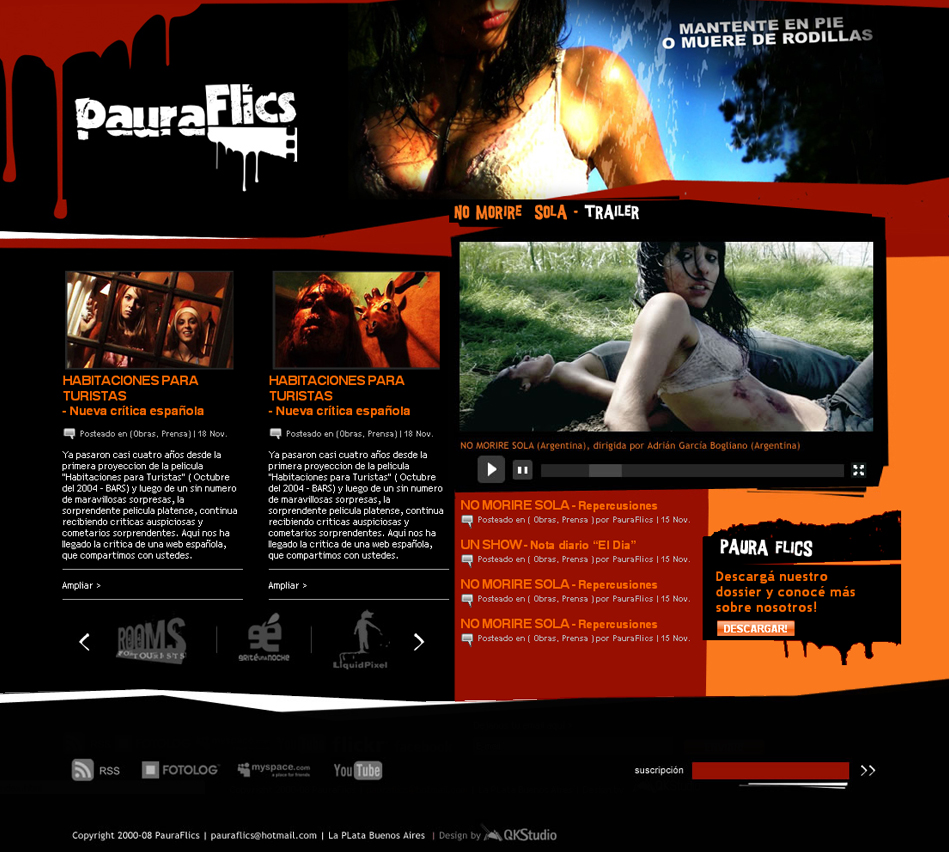 Paura Flics Website