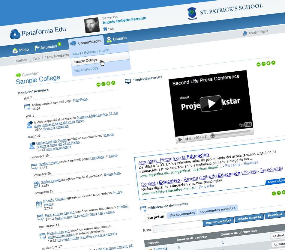 Plataforma Edu Website Administrator QKStudio