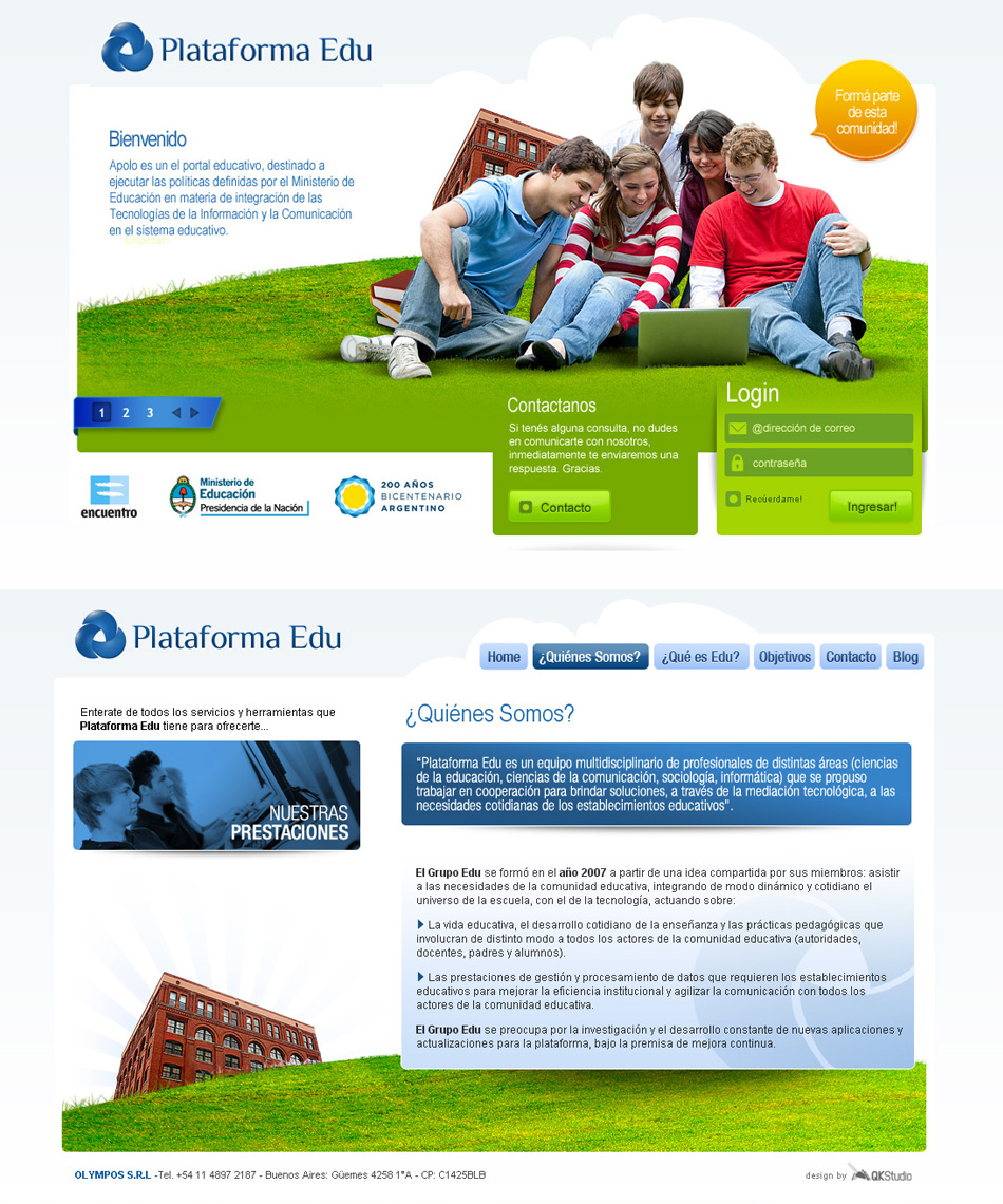 Plataforma Edu Website QKStudio