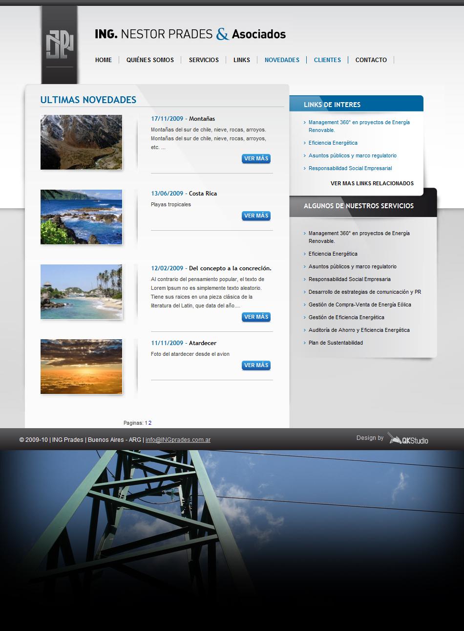 Ing. Prades Web Interior QKStudio