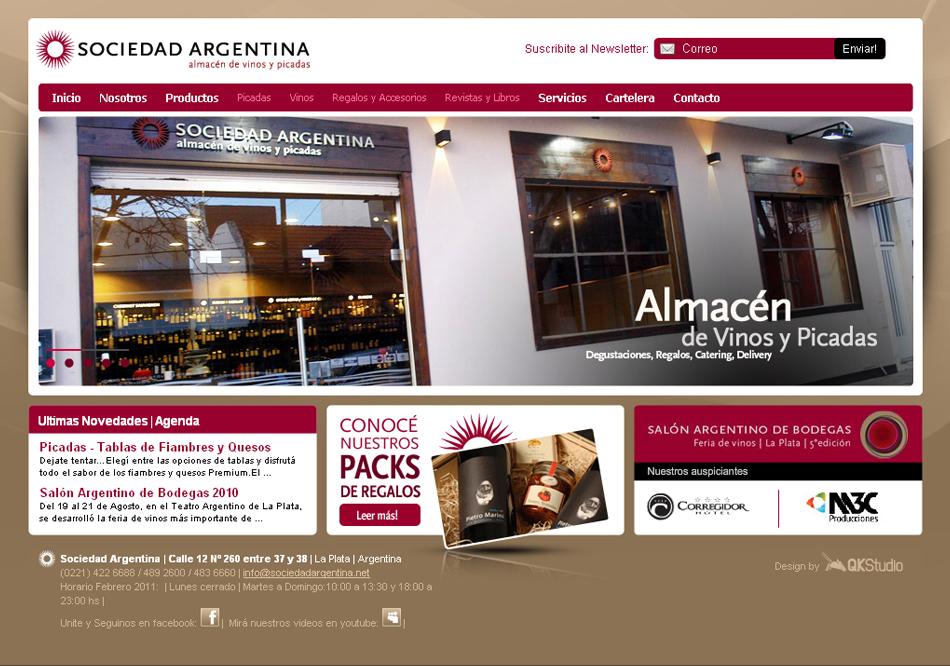 Sociedad Argentina Web QKStudio