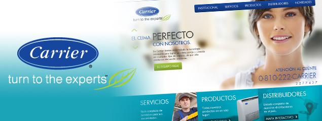 Carrier Argentina lanzó su nuevo sitio web desarrollado por QKStudio