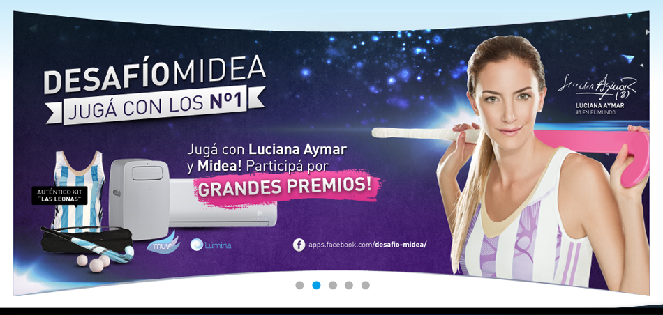 Midea Aplicación Facebook en Website