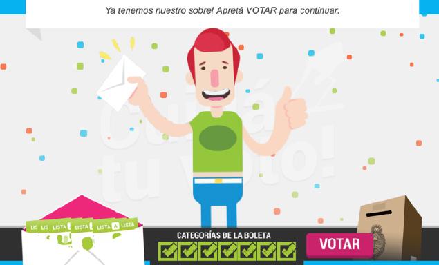 Juego educativo, cuidá tu voto, para aprender a cortar boleta en Buenos Aires