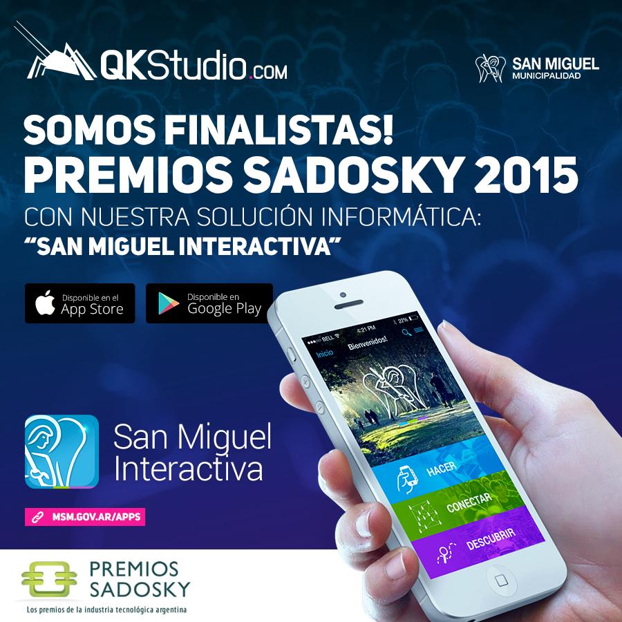 QKStudio Finalista premios Sadosky 2015!