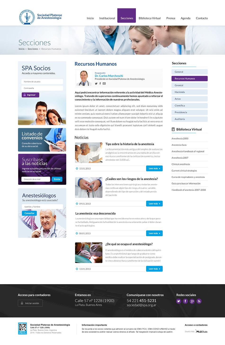 SPA sitio web