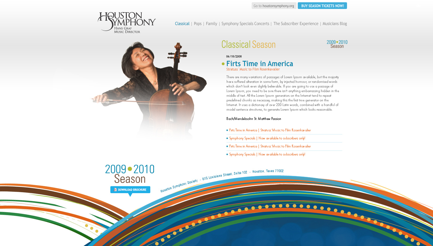 Houston Symphony Website