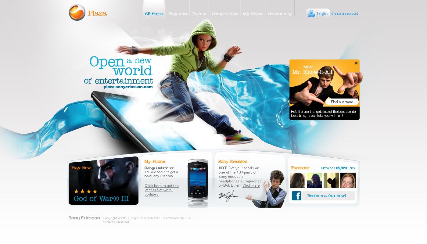 Sony Ericsson website